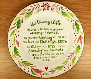 Webster The Giving Plate