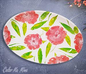 Webster Floral Paper Stamping