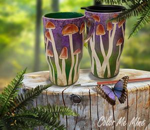 Webster Mushroom Mugs