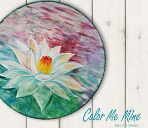Webster Lotus Flower Plate